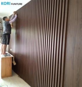 Thi công ốp tường trang trí nội thất, ốp tường chống ẩm mốc,