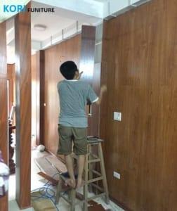 ốp tường chống ẩm giá rẻ, thợ thi công ốp tường chống nóng, tấm nhựa ốp tường giá rẻ,
