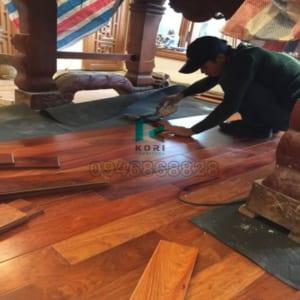 Thi công sàn gỗ công nghiệp tại Bà Rịa