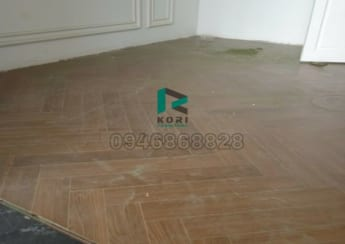 Hoàn thiện sàn gỗ xương cá