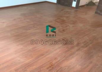 Sàn nhựa giả gỗ sau khi hoàn thiện