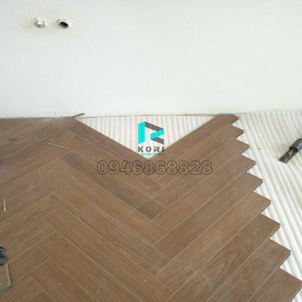 Sàn gỗ Thái lát kiểu xương cá