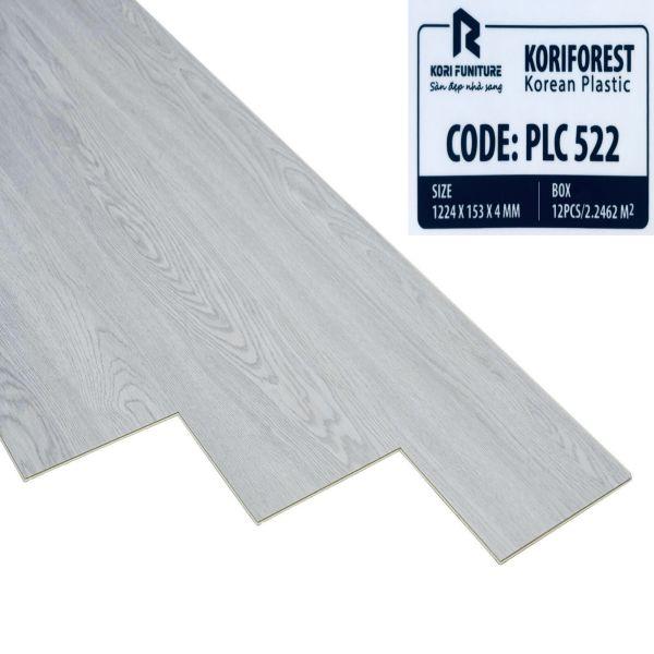 Sàn nhựa giả gỗ hèm khóa Koriforest PLC 522