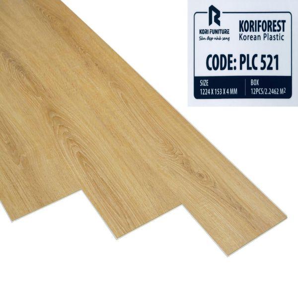 Sàn nhựa hèm khóa giả gỗ Koriforest PLC521